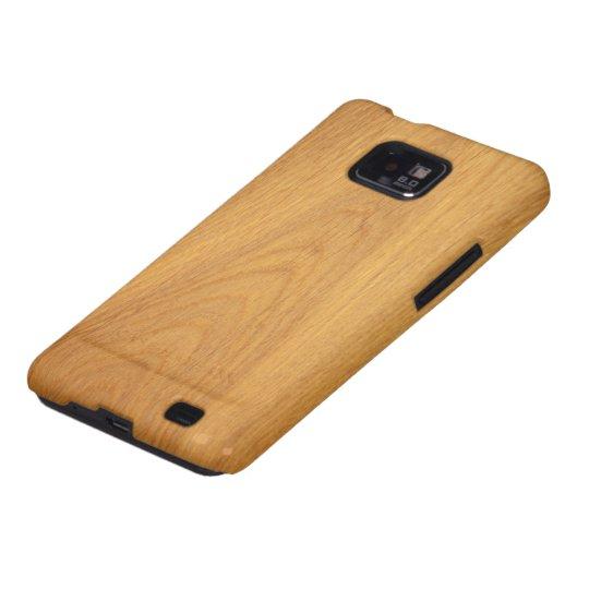 Oak wood grain texture Samsung Galaxy case