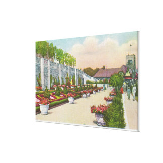 Oakes Garden Theatre Lower Terrace Canvas Print