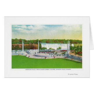 Oakes Garden Theatre View of American Falls Greeting Card