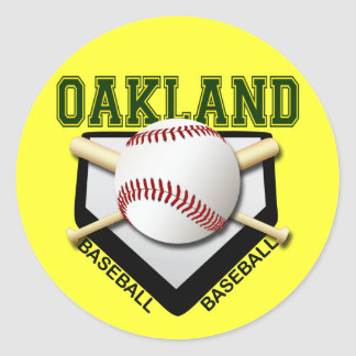 OAKLAND BASEBALL CLASSIC ROUND STICKER