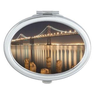 Oakland Bay Bridge night reflections. Compact Mirror