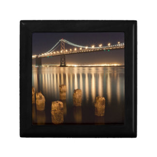 Oakland Bay Bridge night reflections. Gift Box