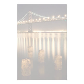 Oakland Bay Bridge night reflections. Stationery Design
