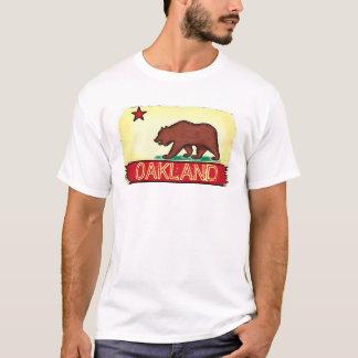Oakland California guys state flag tee