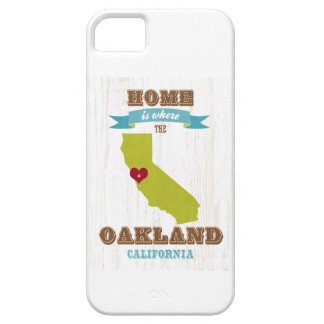Oakland, California Map – Home Is Where The Heart iPhone 5 Case