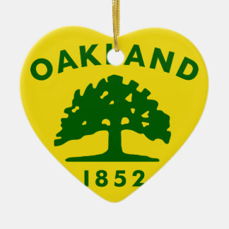 Oakland, California, United States flag Ceramic Heart Decoration