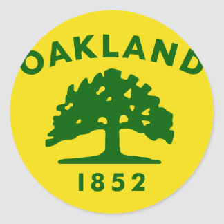 Oakland, California, United States flag Classic Round Sticker