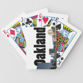 Oakland California with Oakland in the Sky Playing Cards
