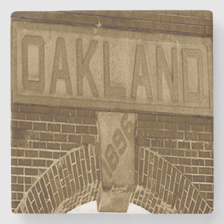 Oakland Cemetery Entrance Atlanta Marble Coaster