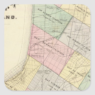 Oakland index map square sticker