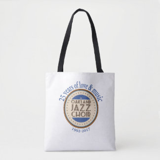Oakland Jazz Choir 25th Anniversary Tote