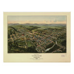 Oakland Maryland 1906 Antique Panoramic Map Poster