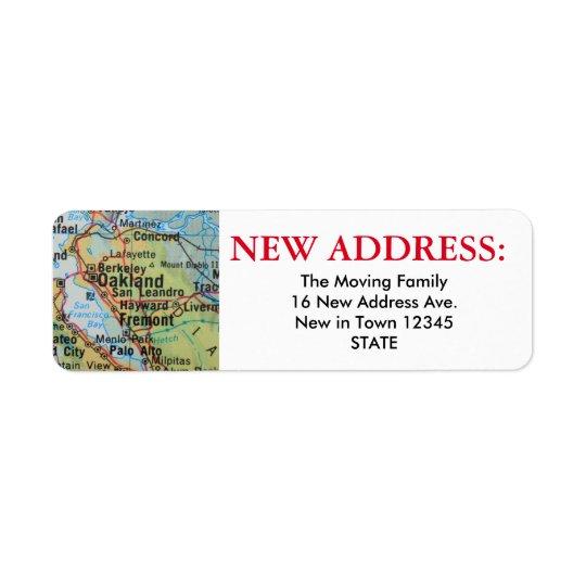 Oakland New Address Label