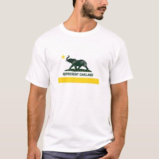 Oakland State Flag (Light) elephant 2 T-Shirt