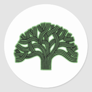 Oakland Tree Green Haze Classic Round Sticker