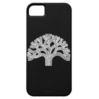 Oakland White Oak Tree on Black iPhone 5 Case