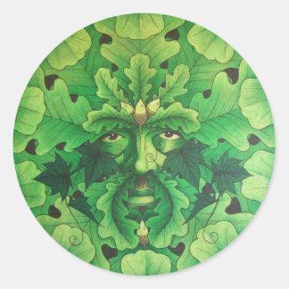 oakman round sticker