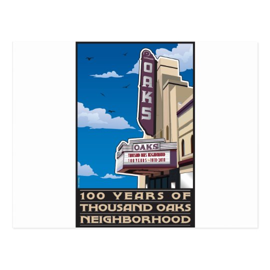 Oaks Theatre on Solano Avenue in Berkeley, CA Postcard