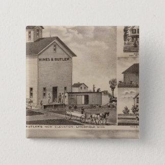 Oakwood Farm, Minnesota 15 Cm Square Badge