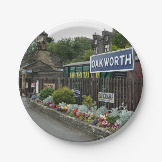 Oakworth Railway Station Paper Plates 7 Inch Paper Plate