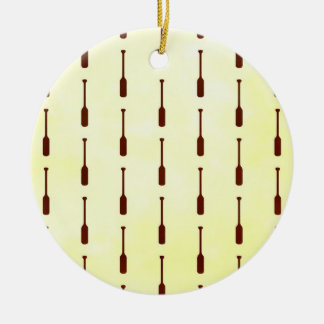 Oar Pattern Paper Texture Christmas Ornament