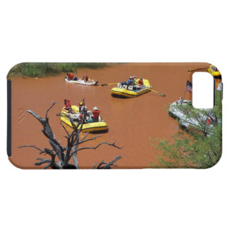 Oar powered rafts turn into the Colorado River iPhone 5 Case