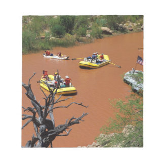 Oar powered rafts turn into the Colorado River Notepad