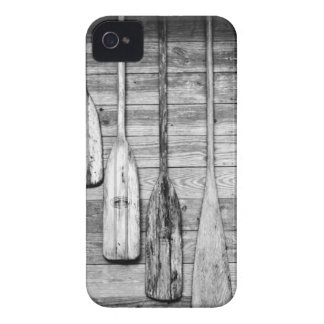Oars are hung on wooden shed in Big Cypress, 2 Case-Mate iPhone 4 Case