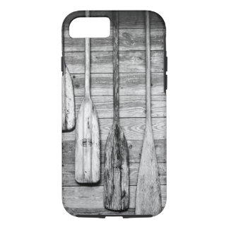 Oars are hung on wooden shed in Big Cypress, 2 iPhone 8/7 Case