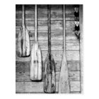 Oars are hung on wooden shed in Big Cypress, 2 Postcard