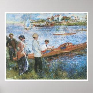 Oarsmen at Chatou, 1879 Pierre-Auguste Renoir Poster