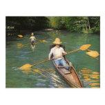 Oarsmen by Caillebotte, Vintage Impressionism Art Postcards
