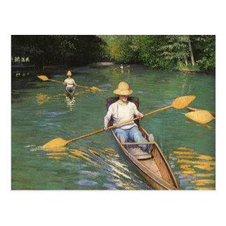 Oarsmen by Caillebotte, Vintage Impressionism Art Postcard