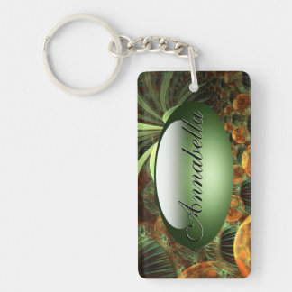 Oasis Key Chain Rectangle Acrylic Keychain