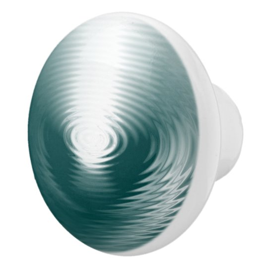 Oasis Of Peace - Water Circles Design Ceramic Knob