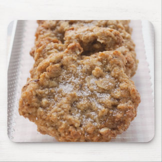 Oat biscuits on plate mouse mat