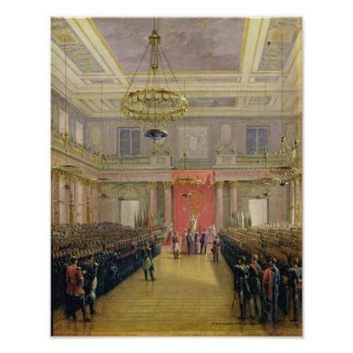 Oath of the Successor to the Throne Alexander II Poster