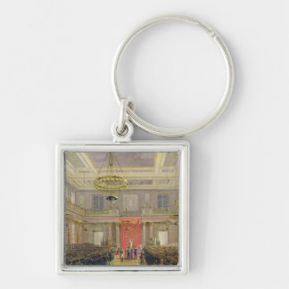 Oath of the Successor to the Throne Alexander II Silver-Colored Square Key Ring