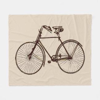 oatmeal brown bike bicycle flower  fleece blanket