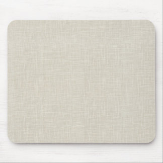 Oatmeal Tan Faux Linen Fabric Textured Background Mouse Mat