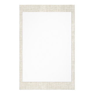 Oatmeal Tan Faux Linen Fabric Textured Background Stationery