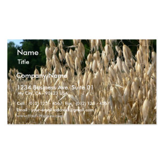 Oats Closeup Business Card