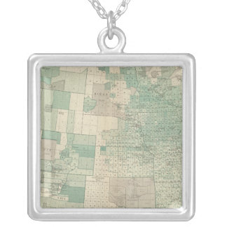 Oats per acre sown silver plated necklace