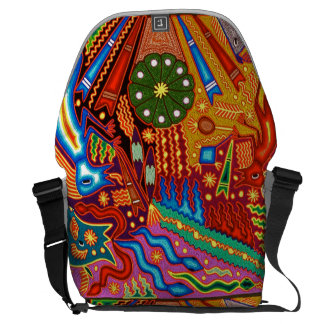 Oaxaca Mexico Mexican Embroidery Indigenous Art Courier Bag
