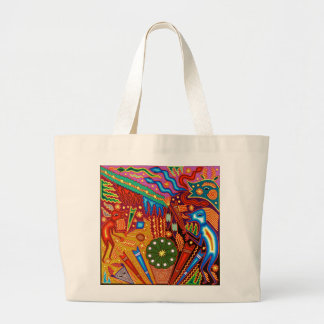 Oaxaca Mexico Mexican Embroidery Indigenous Art Jumbo Tote Bag