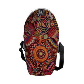 Oaxaca Mexico Mexican Mayan Tribal Art Boho Travel Courier Bag