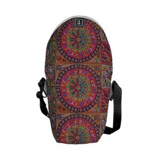 Oaxaca Mexico Mexican Mayan Tribal Art Boho Travel Courier Bags