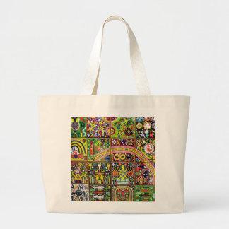 Oaxaca Mexico Mexican Mayan Tribal Art Boho Travel Jumbo Tote Bag