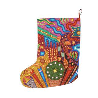 Oaxaca Mexico Mexican Mayan Tribal Art Boho Travel Large Christmas Stocking