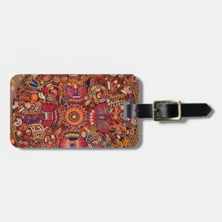 Oaxaca Mexico Mexican Mayan Tribal Art Boho Travel Luggage Tag